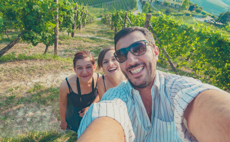 selfie in winery