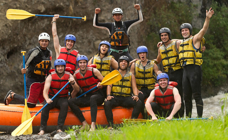 lads whitewater rafting